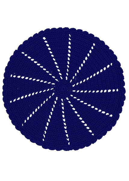 Table Linen-Doily-Mode Crochet-Set of 2-Navy-Heritage Lace