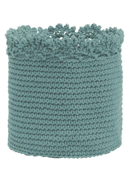 "Round Baskets-Set of 2 -Mode Crochet 6"" x 6"" -Edging"