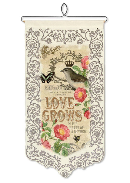 Mother Love Grows-Wall Hanging-Heritage Lace