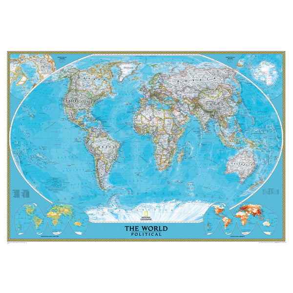 Educational-World Map-Mural-National Geographic