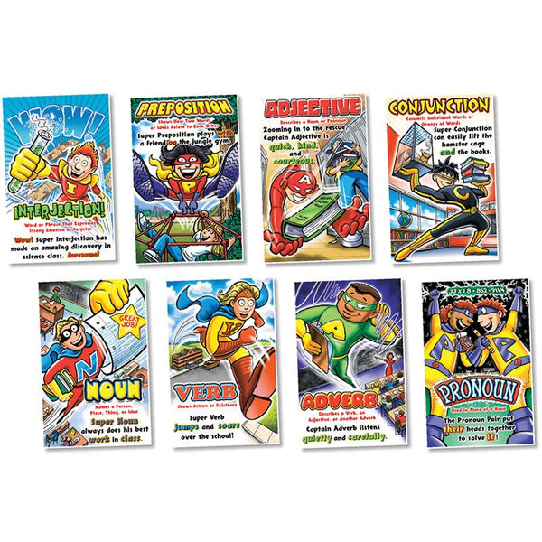 Bulletin Board Set, Parts of Speech Superheroes - Seasonal Expressions