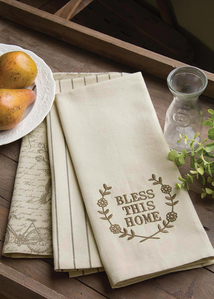 Tea Towels-Set of 3-Nature's Script-Heritage Lace