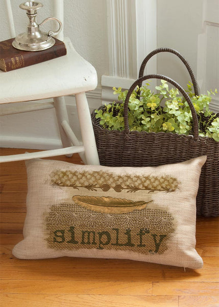 Throw Pillow-12 x 20-Simplify-Cozy Home-Heritage Lace