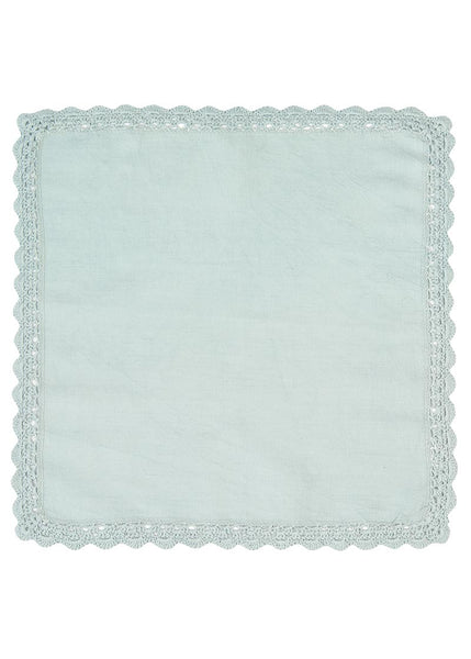 Table Linen-Doily-Napkin-Newport-Set of 2-Aqua-Heritage Lace-Beach Life