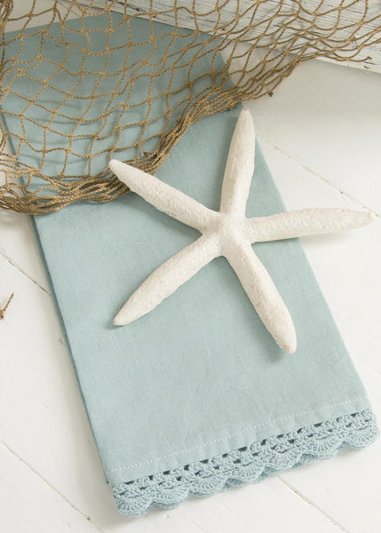Tea Towels-Set of 2-Newport-Aqua-Heritage Lace-Beach Life