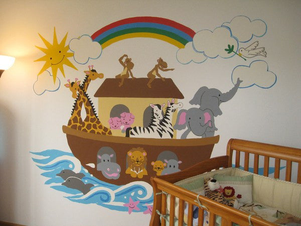 Noah's Ark, a DIY Paint by Number Wall Mural by Elephants on the Wall - Expressions of Home