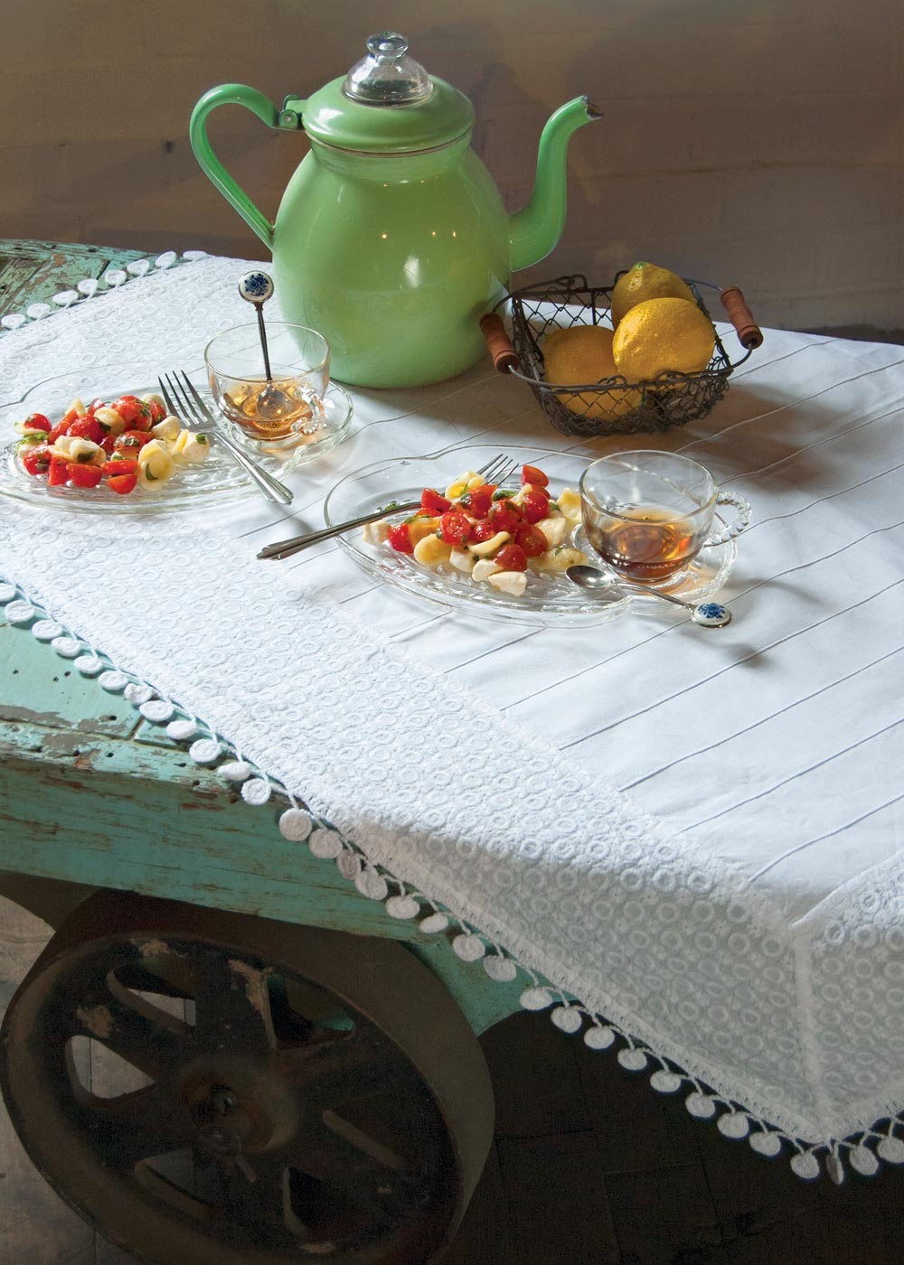 Table Linen-Table Topper-Tablecloth-36x36-Heritage Lace-Prima