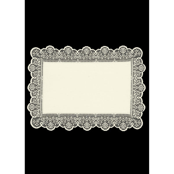 "Set of 6 Prelude 14"" x 19"" Placemats in Ecru from Heritage Lace - Seasonal Expressions"