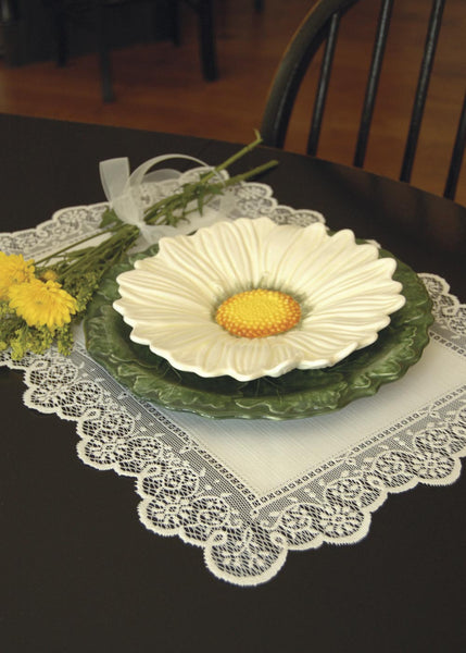 Table Linen-Placemats-Set of 4-14 x 19-Ecru-Heritage Lace-Prelude