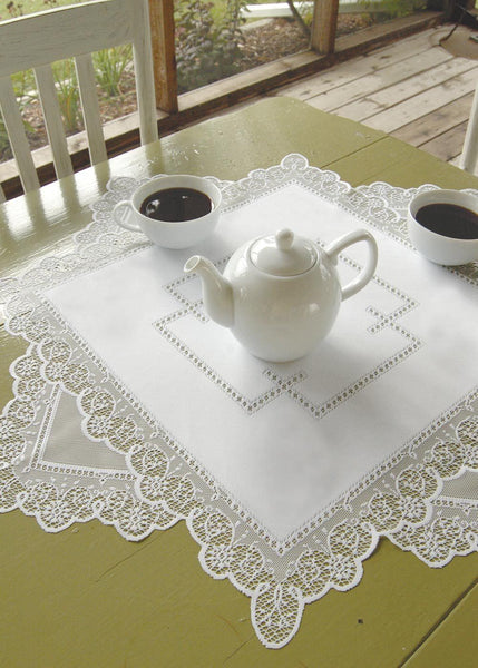 Table Linen-Tablecloth-Table Topper-Heritage Lace-Prelude