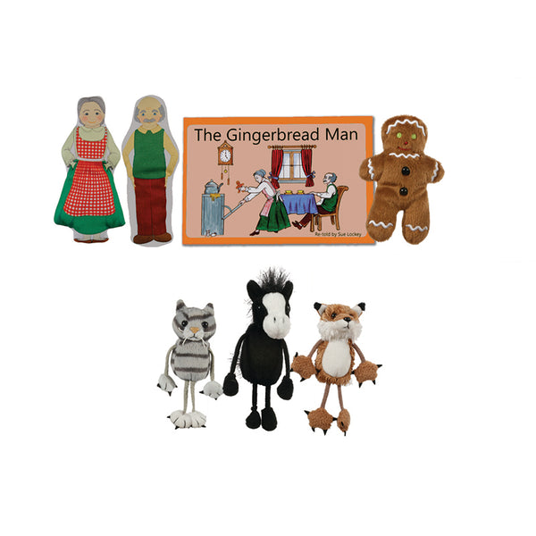 Finger Puppets-Traditional Story Set-The Gingerbread Man-Fairy Tale