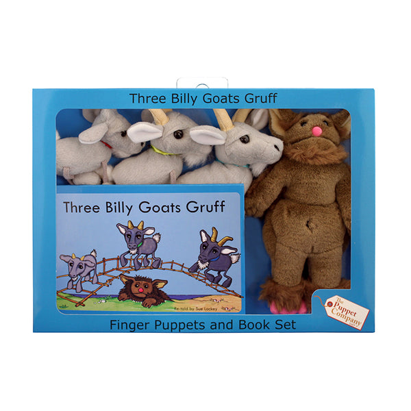 Finger Puppets-3 Billy Goats Gruff-Traditional Story Set-Fairy Tale