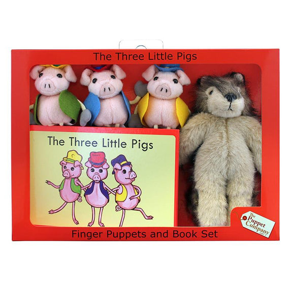 Finger Puppets-Story Set-The Three Little Pigs-Fairy Tale