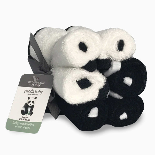 Bathtime-Panda Baby-Washcloths-Bed Voyage