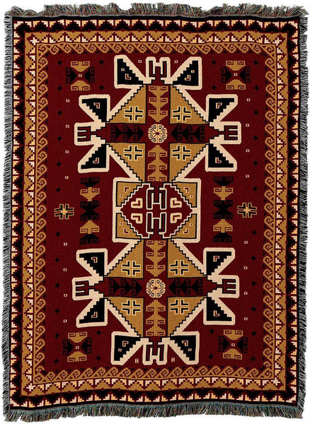 Throw Blanket-54 x 72-Matching-Throw Pillow-Southwest-Paraguay