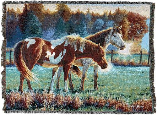 Throw Blanket-54 x 72-Animal Lovers-Pasture Buddies-Horses