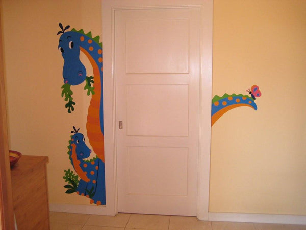 The Peek-A-Saurus DIY Paint by Number Wall Mural by Elephants on the Wall - Seasonal Expressions - 1