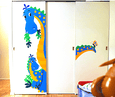 The Peek-A-Saurus DIY Paint by Number Wall Mural by Elephants on the Wall - Seasonal Expressions - 2