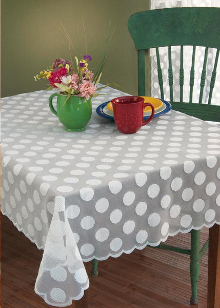Table Linen-Table Topper-58x58-Heritage Lace-Polka Dot