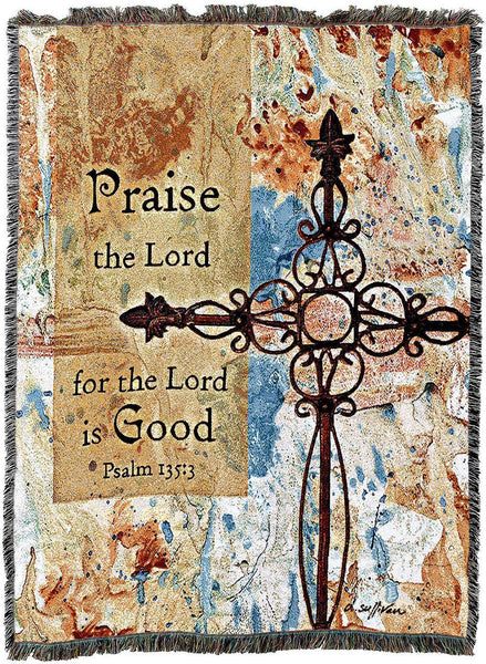 Throw Blanket-54 x 72-Christian-Praise The Lord