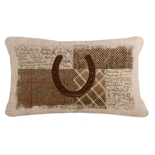 Throw Pillow-Country Life-Heritage Lace-Quarter Horse-Horseshoe