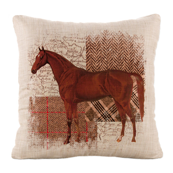 Throw Pillow-Country Life-Heritage Lace-Quarter Horse