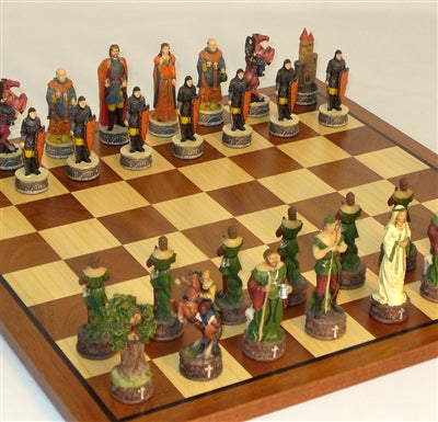 "Chess Set-Robin Hood-16"" Sapele-Maple Board"