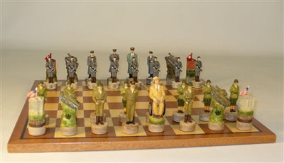 Chess Set-WWII-Sapele-Maple Board