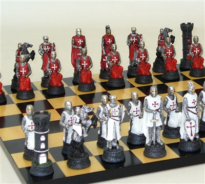 Chess Set-Maple Board-The Crusades