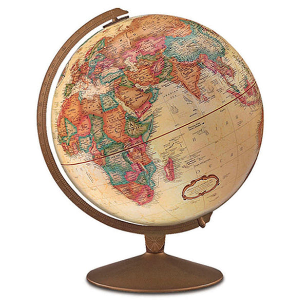 Educational-Globe-12 inch-Franklin-Antique Finished Base