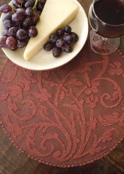 Table Linen-Doily-Rondeau-Set of 2-Paprika-Heritage Lace