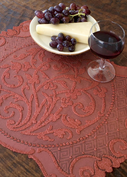 Table Linen-Placemats-Set of 4-14 x 20-Heritage Lace-Rondeau