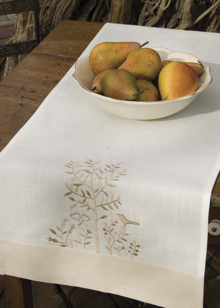 Table Linen-Runner-Dresser Scarf-Set of 2-Heritage Lace-Rabbit Hollow