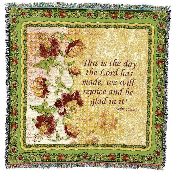 Christian Decor-Throw Blanket-54 x 54-Rejoice