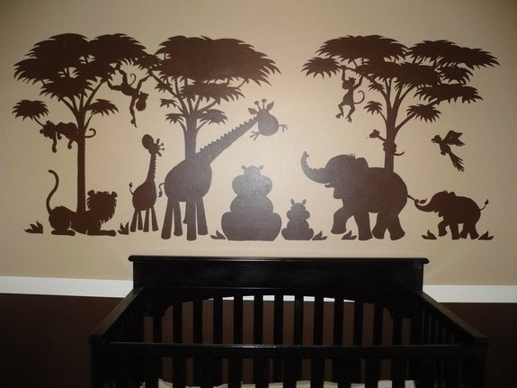Silhouette Safari, a DIY Paint by Number Wall Mural by Elephants on the Wall - Seasonal Expressions - 7