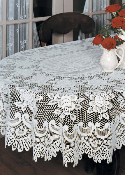 Table Linen-Tablecloth-Choice-Size-Color-Heritage Lace-Rose