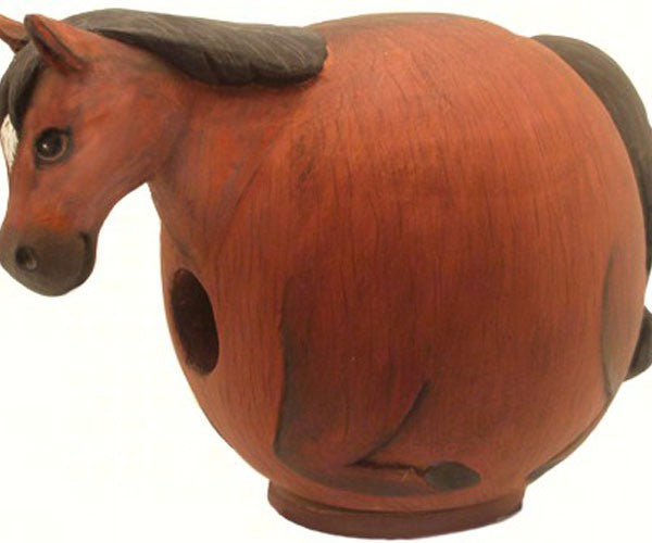 Birdhouse-Brown Horse-Gord-O-Renewable Resource-Wildlife Friends
