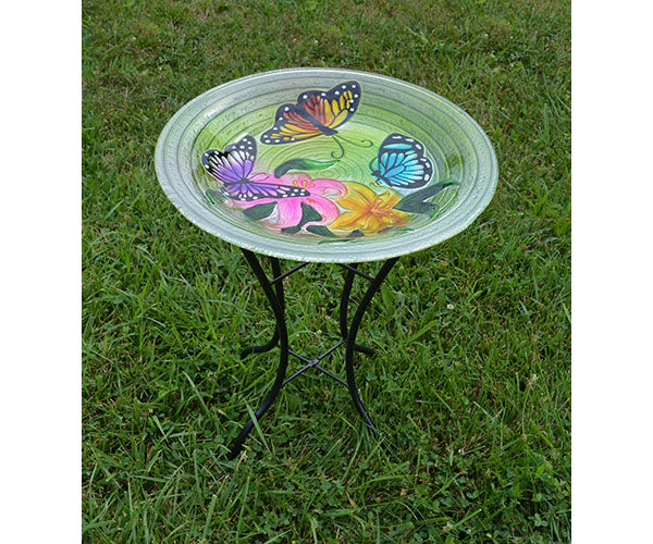 Birdbath-Butterfly Trio-Loving Nature