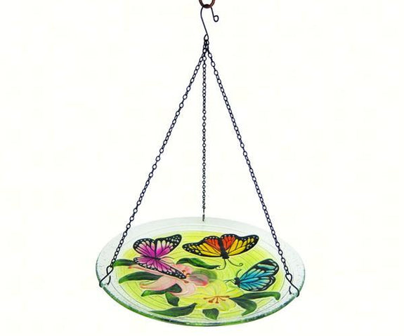 Hanging Birdbath-Butterfly Trio-Loving Nature