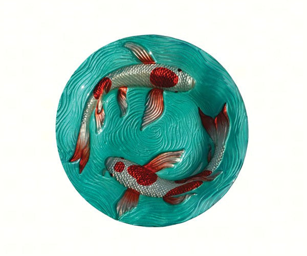 Birdbath-Glass-20 inch-Koi Pond-Nature Lover