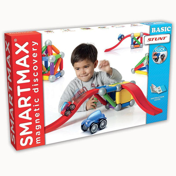 Design and Build-Educational-Physical Science-Smartmax Basic Stunt-Magnetics-Creative Children