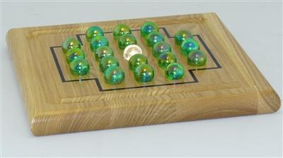 Educational-Fun-IQ Solitaire Wood Puzzle
