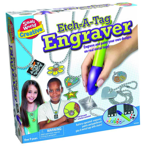 Arts and Crafts-Engraving-Etch a Tag-Ages 8-12