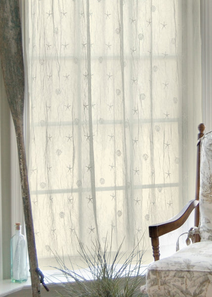 Curtain Panel-Heritage Lace-Ecru-Sand Shell