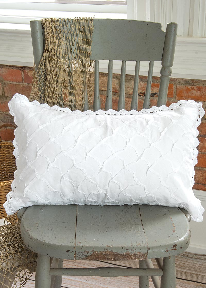 Throw Pillow-Choice-18x18 OR 12x20-Heritage Lace-Seabreeze