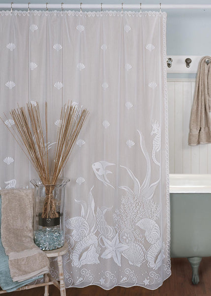 Shower Curtain-Heritage Lace-Seascape