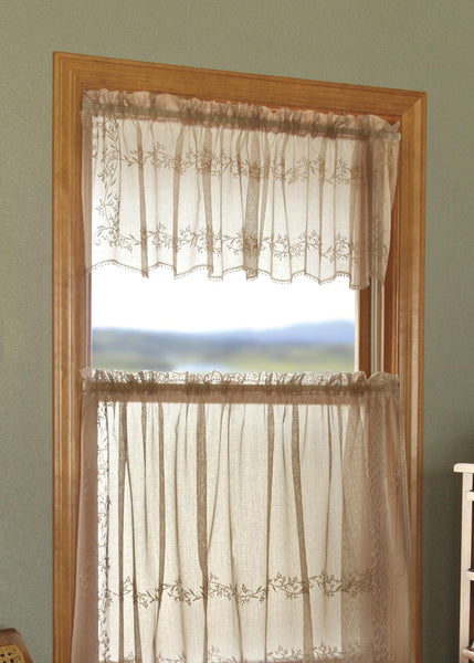 Curtains-Valance-60x16-Choice-Color-Heritage Lace-Sheer Divine