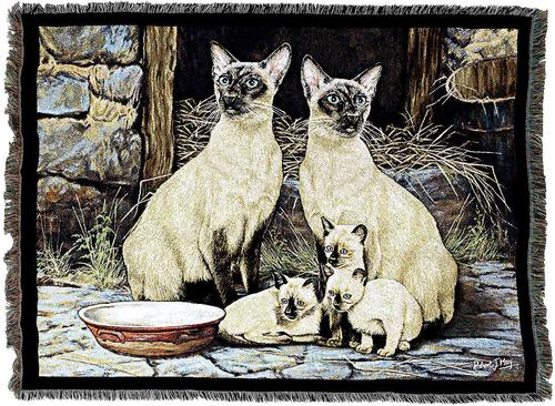 Throw Blanket-54 x 72-Animal Lover-Siamese Cats