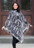 Halloween-Seasonal-Clothing-Poncho-Skeleton Dance