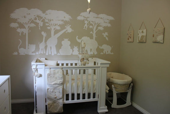 Silhouette Safari, a DIY Paint by Number Wall Mural by Elephants on the Wall - Seasonal Expressions - 6